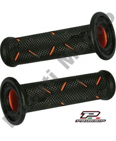 Progrip Gel Touch Dual Compound GP Grips Used By Althea Ducati Black & Orange PG717Orange