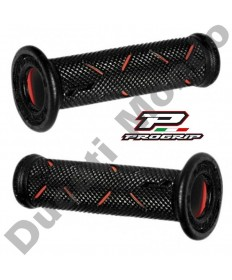Progrip Gel Touch Dual Compound GP Handle Bar Grips Used By Althea Ducati Black & Red PG717Red