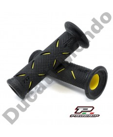 Progrip Gel Touch Dual Compound GP Handle Bar Grips Used By Althea Ducati Black & Yellow PG717Yellow