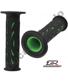 Progrip Gel Touch Dual Compound Handle Bar Grips As Used By Ducati Corse Green & Black PG724