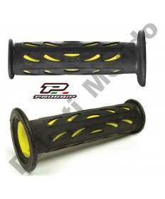 Progrip Gel Touch Dual Compound Handle Bar Grips As Used By Ducati Corse Yellow & Black PG724
