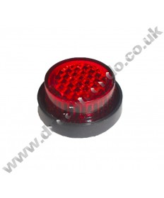20mm Round Self Adhesive Red Reflector Stick On ideal Motorcycle number plate or MOT