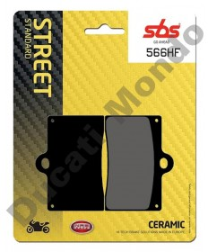 SBS ceramic front brake pads Aprilia RS250 95-97 RS4 50 11-16 RS4 125 11-16 single pin 566HF