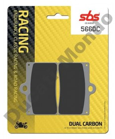 SBS Dual Carbon Front brake pads Aprilia RS250 95-97 RS4 50 11-16 RS4 125 11-16 Single pin 566DC