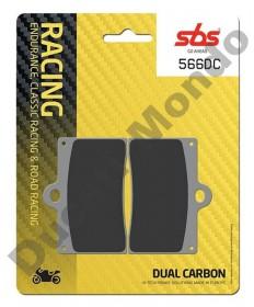 SBS Dual Carbon Front brake pads Aprilia RS250 95-97 RS4 50 11-16 RS4 125 11-16 Single pin 566DC