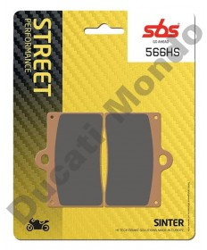 SBS Front brake pads for Ducati - Sintered - Single pin caliper 566HS
