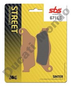 SBS Low Sinter Rear brake pads for Ducati Diavel 1200  - 671LS