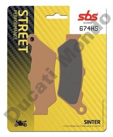 SBS Sintered front brake pads for Ducati Scrambler 400 Sixty2 Sportclassic 1000 GT Sport - 674HS