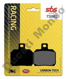 SBS Carbon Tech Rear brake pads for Aprilia RSV 1000 Tuono V4 RSV4  ETV SL Falco - 730RQ