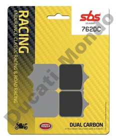 SBS 762DC Dual Carbon Front brake pads for 4 pad calipers