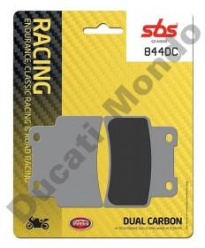 SBS Dual Carbon front brake pads Aprilia RS125 06-11 Dorsoduro 750 SL Shiver Mana 850 844DC