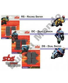 SBS Race Sinter front brake pads Aprilia RS250 95-97 RS4 50 11-16 RS4 125 11-16 single pin 566RS
