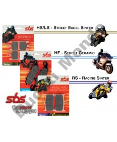 SBS Street Ceramic rear brake pads for Ducati 519HF