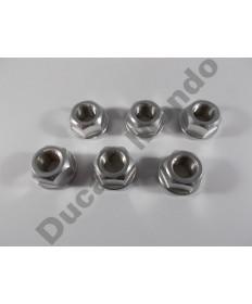 Billet alloy sprocket cush drive nuts x6 M12x1.5mm