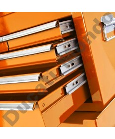 Mechanics steel orange combination tool chest and cabinet set