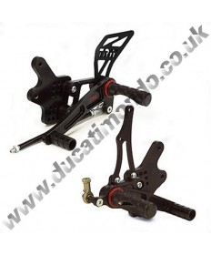 TRW billet Black Edition Rearsets for Ducati 848 1098 1198