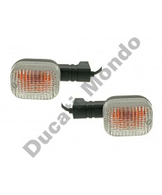 Pair of replacement clear indicators for Ducati 748 916 996 998 ST2 ST3 ST4 ST4S Supersport 750ie 800ie 900ie 1000ie Sport 620 Monster 600 750 900 Cagiva Mito 125