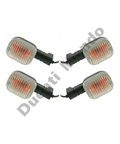 Full set of 4 replacement clear indicators for Ducati 748 916 996 998 Supersport 750ie 800ie 900ie 1000ie Sport 620 Monster 600 750 900 Cagiva Mito 125