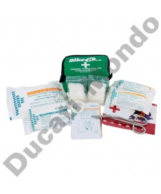 Travel first aid kit mini motorcycle pack with bandages, plasters, surgical tape, Bike It AIDKIT14