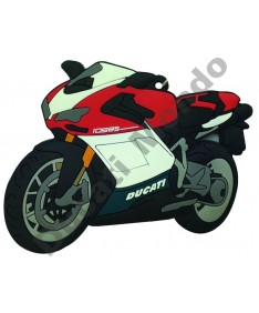 Ducati 1098 rubber key ring motor bike cycle gift keyring chain Tricolore 1098S