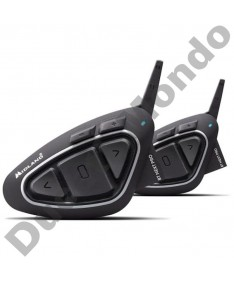 Midland BT Next Pro Ultra Range motorcycle helmet intercom headset with Bluetooth twin Pack