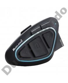 Midland BTX2 Pro Hi-Fi motorcycle helmet intercom headset with Bluetooth Single Pack