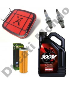 Service kit for Ducati Panigale with Pipercross Air Filter Hiflo Filtro oil filter Spark plugs and a choice of oils