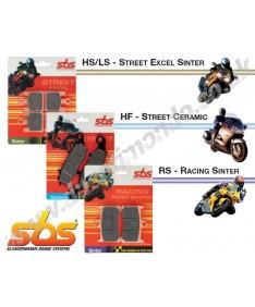 SBS Ceramic rear brake pads Aprilia Caponord 1200 Dorsoduro 750 SL Shiver Mana 850 Pegaso 650 675HF