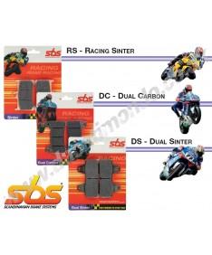 SBS Dual Carbon front brake pads Aprilia Tuono V4R 1000 V4RR 1100 Caponord 1200 900DC