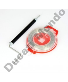 Manual twist safety lock wire twister tool & 30m of 0.8mm of lock wire TLSWPL12