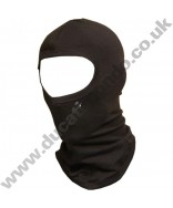 Brand New JMS black 100% cotton full face Balaclava for Motorcycle use, flat stitched seams, washable, breathable